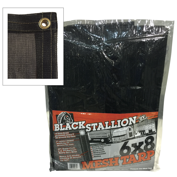Mesh Truck Tarp / Shade Cloth / Windscreen from Ground Cover Industries, Inc.