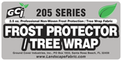 Frost Protector / Tree Wrap / Germination Blanket from Ground Cover Industries, Inc. (GCI)