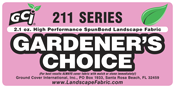 "GCI Series 211 ""GARDENER'S Choice™ Black Spunbond 2oz. Landscape / Filter Fabric from Ground Cover Industries, Inc."