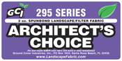 "GCI Series 295 ""Architect's Choice™"" Spun-bond Landscape  / Filter Fabric from Ground Cover Industries, Inc."