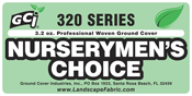 "GCI Series 320 ""Nurserymen's Choice™"" Black Premiun Woven Ground Cover 3.2oz with Stripes every 12"" from Ground Cover Industries, Inc."