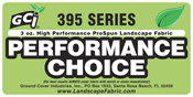 "GCI Series 395 ""Performance Choice"" Black Pro-Spun 3oz. Landscape / Filter Fabric from Ground Cover Industries, Inc."