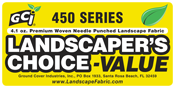 """GCI Series 450 """"Landscaper's Choice™"""" Premium Landscape Woven Needle-Punched Fabric 5oz. from Ground Cover Industries, Inc."""