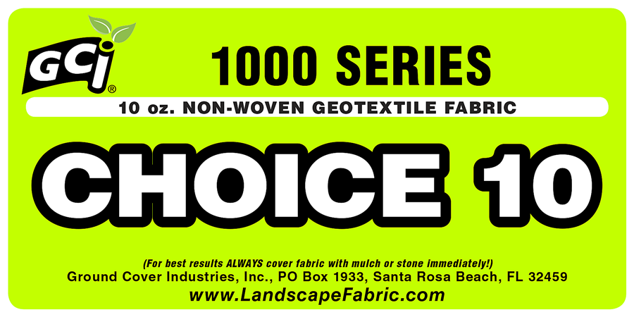 GCI 1000 Series CHOICE NW Non-Woven Geotextile Fabric